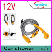Wholesale Portable Shower Outdoor Van Pet Bath Water Hiking Travel Camping Wash Car Tool Handheld Caravan Machine Parking YX DH