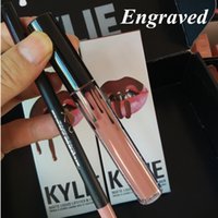 Wholesale KYLIE JENNER LIP KIT Metal Matte Kymajesty Lord Liquid Lipstick Lip Liner Kylie lip Velvetine in Red Velvet Makeup Birthday Edition