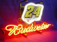 autographs store - NEON SIGN board For Budweiser Autographed Nascar Racing Car GLASS Tube BEER BAR PUB store display Shop Light Signs quot