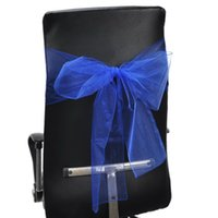 Wholesale Wedding Decoration Packet strips Beautiful Yarn Royalblue Party Chair Sash cm cm