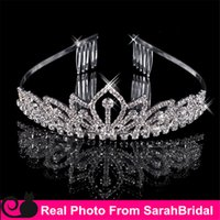 balls hair piece - Rhinestone Queen Headwear Crowns Cheap Bridal Tiaras Wedding Party Prom Dresses Hair Comb Accessories Head Piece For Bride