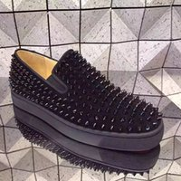 best boat shoes - Hot Brand Fashion Mens Black Suede Rivets Spikes Casual Flats Best Quality Genuine Leather Shoes Gentlemen Male Flat Boat Shoes