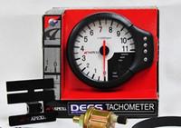 Wholesale 120MM APEX DECS in Meter Functions in Meter Tachometer RPM Water Temp Gauge Oil Press Meter WHITE FACE