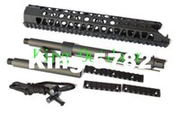 aluminum rail systems - Free Float Rail System Aluminum One Top Picatinny Handguard with Barrel Nut Bungee For LVOA CM4 AEG or GBB Black Tan colors