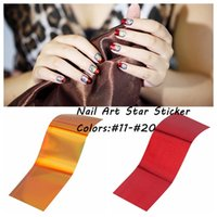Wholesale 2016 New cmx4cm Multicolor Polish Transfer Decals Nail Art Foil Star Stickers Many Colors DIY Craft Nails Decorations