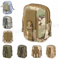 Wholesale Unisex Camouflage Waist Fanny Pack Army Tactical Purse Bags Outdoor Molle Change Purse Cell Phone Case Waist Belt Wallet Pocket Bags D132