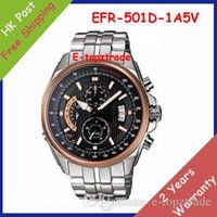 alarm chronograph watch - hot sell New EFR D A5V Men s Watch Chronograph Sport D Stainless Steel Gents Rose Gold Dial Wristwatch EFR D A With Alarm Functio