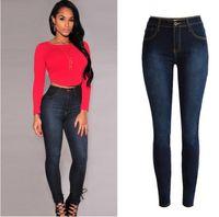100 cotton jeans for women - 2016 Spring Skinny Jeans Woman High Waist robin jeans Femme Stretch Women s Pants Denim Women Jeans Trousers For Women