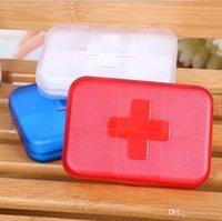 Wholesale Portable Eco friendly Cells Pill Box Travel medicine pills Storage Case Super Mini Portative Refillable box Medicine Kit Free DHL