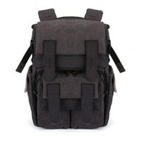Wholesale 2016 New Waterproof Canvas Casual Fashion SLR Camera Bag SLR Photography Backpack Backpack Outdoor Sports Bag Free Postal Delivery