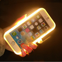 apple mobile phone service - Luminous mobile phone case for iPhone6 s self timer artifact Self service pictures fill light Hot seller