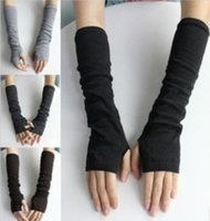 Wholesale lady girl fashion arm gloves sports sun block sleeves autumn winter wrist warmers strentchy fingers covers