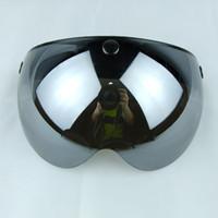 Wholesale snap cascos para moto vintage helmet lens visor glasses retro helmet shield bubbles shield eye protector