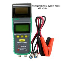 Wholesale LCD display intelligent automotive car battery system tester with printer