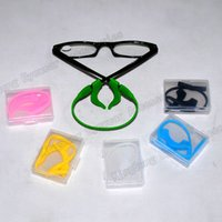 Wholesale eyeglass sport silicone anti slip temple tip ear hook and cords kit sets with transparent box
