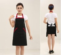 Wholesale Apron Bid Cotton for Chef in Kitchen with Adjustable Neck Straps Pockets on Side colors