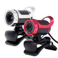Wholesale USB Megapixel HD Camera Web Cam Degree with MIC Clip on for Desktop Skype Computer PC Laptop DHL