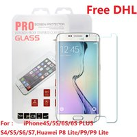 apple iphone delivery - DHL Fast Delivery Tempered Glass Screen Protector For iPhone S SE S S PLUS Samsung S4 S5 S5 S7 Huawei P8 LITE P9 LITE Retail Package