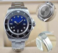 Wholesale 2016 Hot Christmas gift automatic top brand dweller sea brand stainless steel ceramic bezel original clasp mens Mechanical Watches