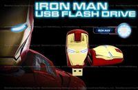 avengers usb sticks - 16GB GB GB GB GB high quality Avengers iron man Luminous eyes USB flash drive pendrive memory stick U disk