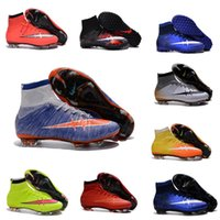 Wholesale Children Soccer Cleats Kids Boys Mercurial Superfly CR7 FG Football Boots Mens High Ankle Soccer Shoes Womens Girls Outdoor Magista TF AG