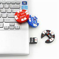 b flash memory - New Cartoon B POKER STARS Round USB Flash Drive XMAS Gift GB GB GB Pen U Stick Memory Full Capacity For PC GB GB GB