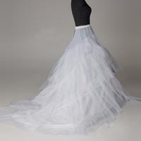 Wholesale Crinoline Skirts For Sale - Cheap Hoop Skirt Bridal Petticoats Plus Size Crinolines For Sale Ball Gown Wedding Dresses Underskirt Cheap Petticoat Hot Sale