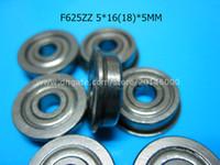 Precio de Rodamientos 5mm-Los cojinetes de la brida F625 liberan el cojinete profundo del surco del acero inoxidable del cromo del envío 625 F625 F625Z F625ZZ 5 * 1618 * 5m m