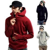 achat en gros de veste xxl pour les hommes-New Men's Winter Slim Hoodie Warm Hooded Sweatshirt Coat Veste Outwear Sweater Tops Teenage Casual Cardigan Hoody manteau d'automne