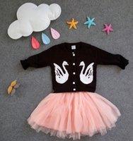 baby woolen sweater design - Korean Woolen Baby Girls Cardigan Sweater Children Warm Outwear Jacket With Swan For Baby Autumn Winter Spring Cute Design