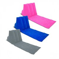 Wholesale WICKED WEDGE Inflatable Beach Festival Camping Lounger Back Pillow Cushion Chair