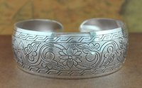 Wholesale Bohemian Antalya bangle Antique Silver plated carve pattern Statement Boho Coachella Festival Turkish hand Jewelry New Style