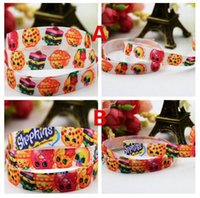 Wholesale DHL Ship quot mm Shop World girl printed ribbon Styles packing DIY cartoon polyester grosgrain ribbon Headbands Bowknots DIY Materials