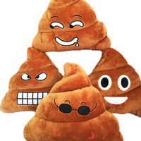 Wholesale Emoji Smiley Emoticon Cushion Throw Pillow Poop Shaped Stuffed Decorative Pillows Stuffed Plush Toy Doll Poop Face cm