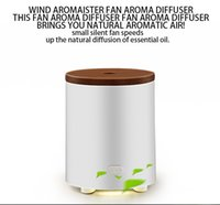 battery operated misting fan - New designed USB Battery operated essential oil diffuser Fan aroma diffuser Real wood cover essential oil diffusers aromatherapy diffuser