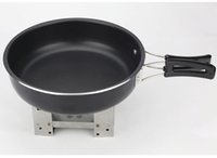 Wholesale Cooking Tools Lowest Price Wear resisting Explorer Kitchenware Non Stick Skillet Folding Handle Aluminum Hand Anodized Sauce Pan Frying Pans
