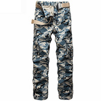 Cotton big camo clothing - Hot Men s Cargo Pants Millitary Clothing Tactical Pants Men Outdoor Camouflage Army Style Camo Workwear Trousers big size
