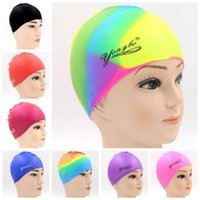 Wholesale Water Sport Pool Swimming Bathing Adult Silicone Cap Beach Durable Swim Hat