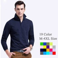 Wholesale long sleeve polo Summer Men s Cotton Men s cotton Polo shirt Quick Dry Embroidery Crocodile Logo Casual Shirt LS plus size DHL Free