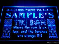Acrylic bars names - DZ014 b Name Personalized Custom Tiki Bar Beer Neon Light Sign