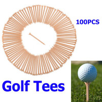 Wholesale pack Professional Prong Plastic Golf Tee Wheat