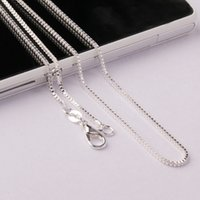 Wholesale New Cheap Smooth Silver Necklace Chain Fashion Necklaces Jewelry Multi Size Inch to Inch