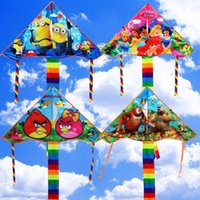 Wholesale Outdoor fun sports cartoon Kite modern maple flying Cartoon kids Flying Kite Princess Minions Kids Kite