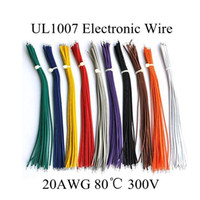 Wholesale M FT AWG Copper Wire Flexible Cable Stranded of10 Colors UL1007 Diameter mm Environmental Electronic Wire Diy