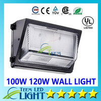 Wholesale Oversea warehouse stock CREE W W led wall pack Outdoor Wall Mounted light meanwell driver DLC ETL Listed AC V led lightig