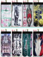 Wholesale 2016 Newest Styles Sports Socks Big Kids Men s Woman D Printed Stocking New Pattern Hip Hop Cotton Sock Unisex SOX City Figure Free DHL