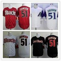 best randy - Randy Johnson Jersey Cheap Arizona Diamondbacks Vintage Baseball Jersey Stitched Black Red White Best Quality