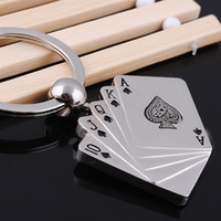 best cad - Style Metal Key Chain Ring Best Gift Poker Keychain Keyfob Keyring C00074 CAD