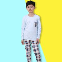 Wholesale Boy Pajamas Kids Long Sleeve Tops Pants Children s Nightwear Sleepwear Boys Pyjamas Sets Outfits