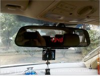 automobile clock - vehicle LED electronic meter clock voltage thermometer Automobile rearview mirror clock